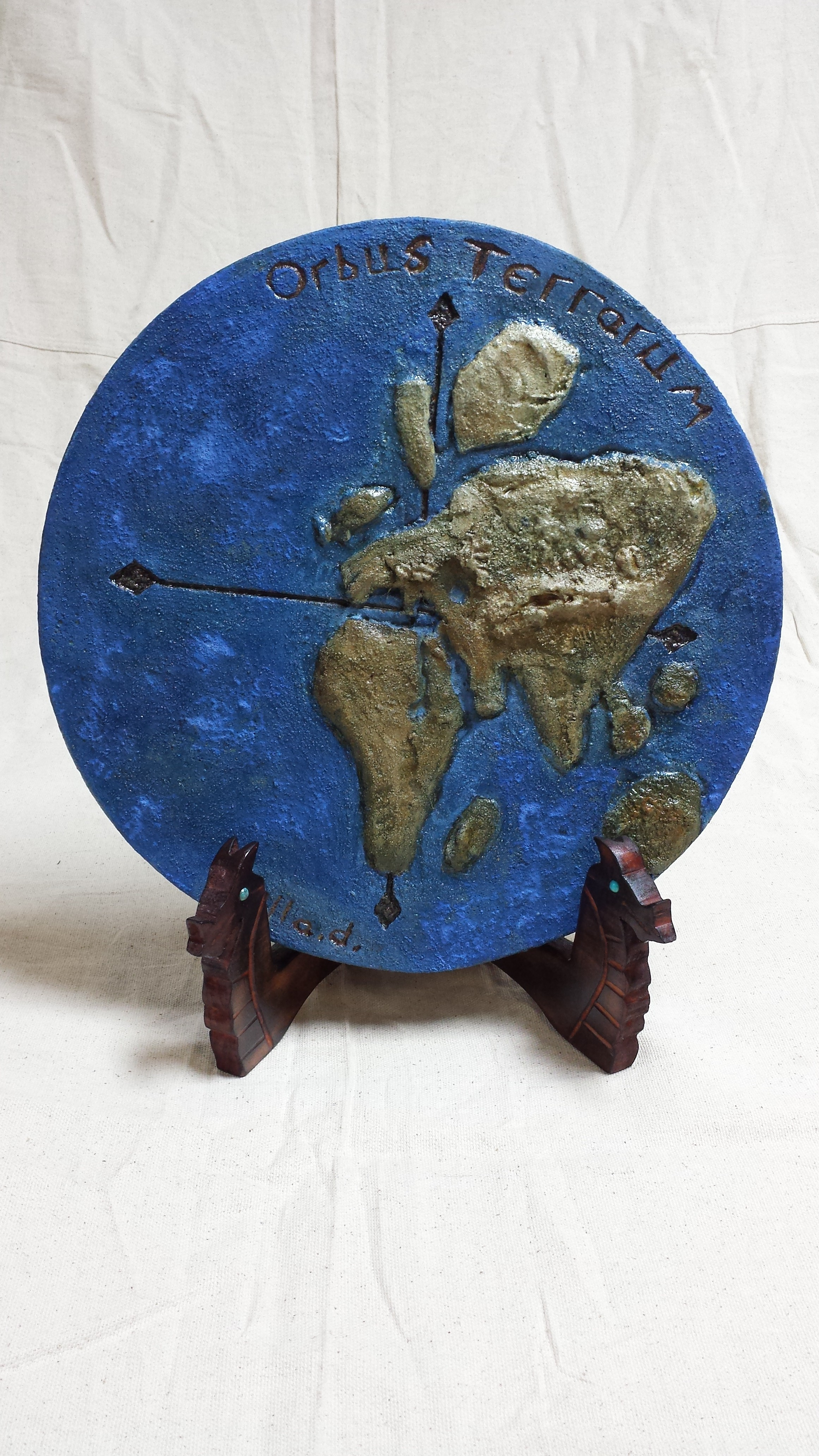 Old World Map Plaque