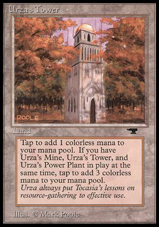 ARTIST PROOF Urza's Tower, forest