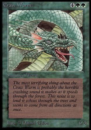 Craw wurm alpha magic the gathering single wizards for Gabriele wurm