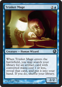 trinket mage scars of mirrodin magic the gathering foil