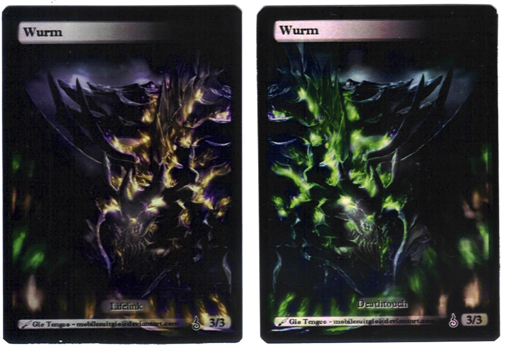 Wurm tokens (Deathtouch and Lifelink)